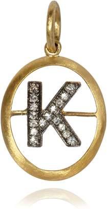 Annoushka Yellow Gold and Diamond Initial K Pendant