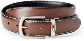 Tommy Hilfiger Cognac & Black Flag Keeper Reversible Belt