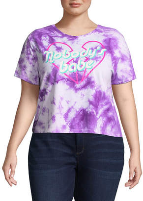 Freeze Nobody's Babe Cropped Tee - Juniors Plu