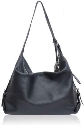 At Amanda Wakeley Costner Black Leather Hobo Bag