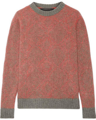 The Elder Statesman Southwest Two-tone Cashmere Sweater - Red