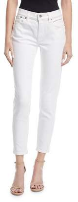 Ralph Lauren 400 Matchstick Ankle Jeans, White