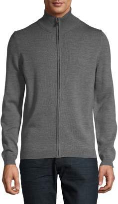 BOSS Full-Zip Wool Sweater