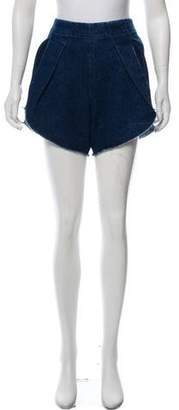 Zero Maria Cornejo High-Rise Denim Shorts