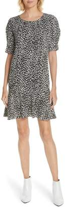 Joie Angeni Leopard Print Puff Sleeve Dress
