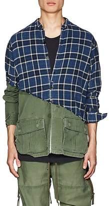 Greg Lauren Men's Plaid Cotton Flannel & Ripstop Studio Shirt