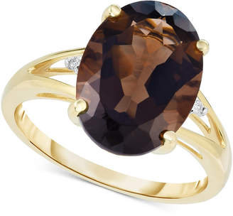 Macy's Smoky Quartz (4-1/2 ct. t.w.) & Diamond Accent Ring in 14k Gold