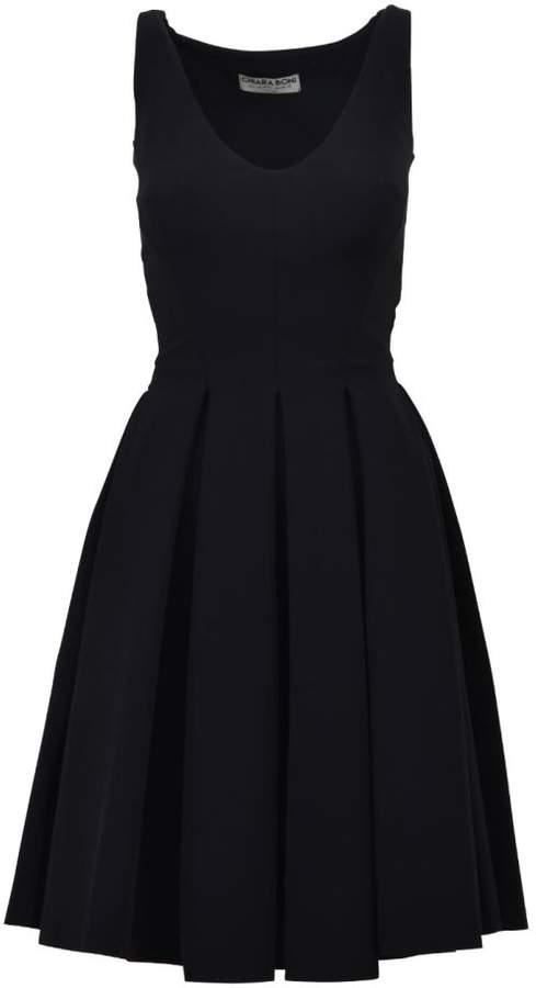 La Petit Robe Di Chiara Boni Midi Pleated Dress Black