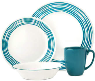 Corelle Brushed Turquoise 16-Pc. Dinnerware Set, Service for 4