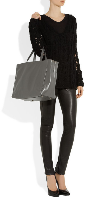 Saint Laurent The Shopping reversible suede and leather tote