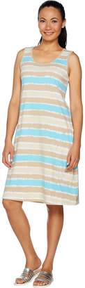 Denim & Co. Beach Sleeveless Printed Dress with Pockets