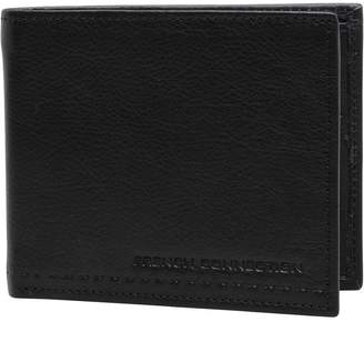 French Connection Mens Stitch Emboss Wallet Black