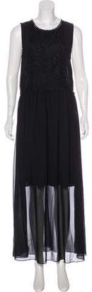 Neiman Marcus Sleeveless Maxi Dress