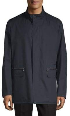 Corneliani Caban Long-Sleeve Coat