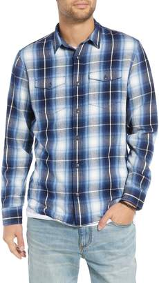 Treasure & Bond Slim Fit Plaid Flap Pocket Sport Shirt