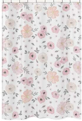 JoJo Designs Sweet Watercolor Floral Shower Curtain