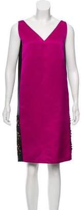 Lanvin Embellished Silk Knee-Length Dress