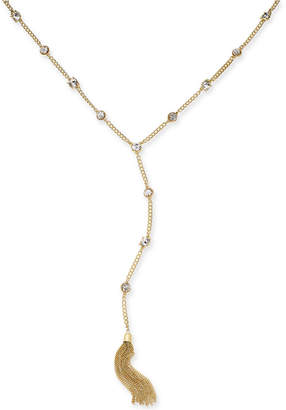 Thalia Sodi Gold-Tone Crystal Tassel Y-Necklace