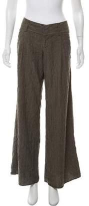 Alice + Olivia Mid-Rise Pinstripe Pants