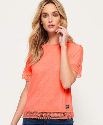 Superdry Pacific Lace Panelled Top