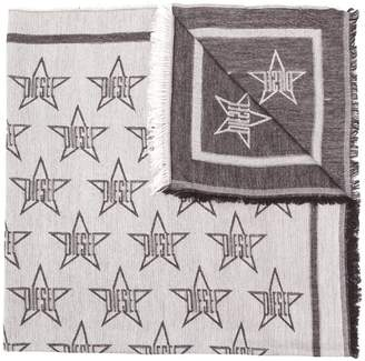 Diesel light scarf with all-over star motif