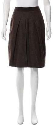 Alberta Ferretti Bouclé Knee-Length Skirt