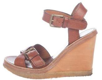 Isabel Marant Wood-Accented Wedge Sandals