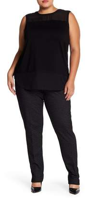 0c4d4be92f9 Amanda   Chelsea Ponte Mini Windowpane Print Pants (Plus Size)