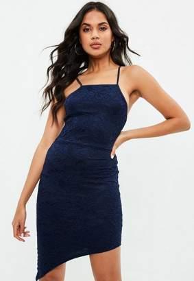 Missguided Lace Asymmetrical Midi Dress