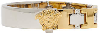 Versace Gold and Silver Two-Tone Line Bracelet