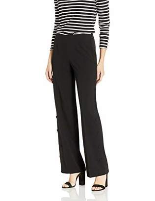 Nine West Women's Stretch Wide Pant with Side Leg Detail