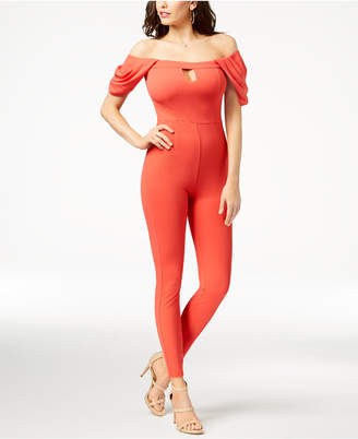 GUESS Jenner Off-The-Shoulder Jumpsuit