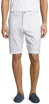 Robert Graham Solid Flat-Front Shorts $98 thestylecure.com