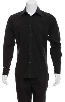 Saint Laurent Woven French Cuff Shirt