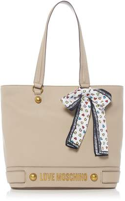 Love Moschino Metal lettering large tote bag