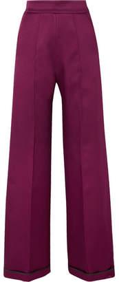 Sid Neigum - Bonded Satin Wide-leg Pants - Plum