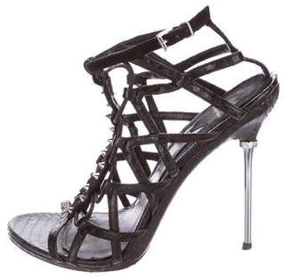 B Brian Atwood Studded Embossed Sandals $65 thestylecure.com