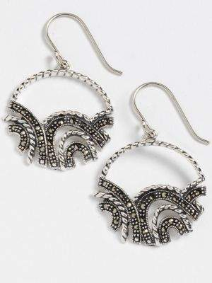 Lord & Taylor Sparkly Hoop Earrings
