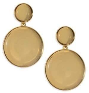 Oscar de la Renta Bold Mirror Drop Earrings