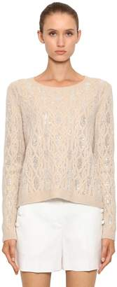 Ermanno Scervino Embellished Ribbed Cashmere Sweater