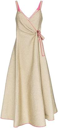 Rosie Assoulin Rosie That's A Wrap Strappy Dress
