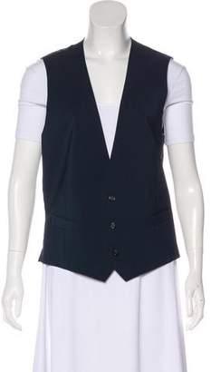 HUGO BOSS Virgin Wool Blend Sleeveless Vest