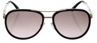 Kate Young for Tura Aviator Tinted Sunglasses
