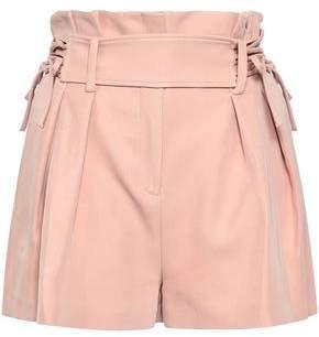 IRO Lalora Belted Pleated Twill Shorts