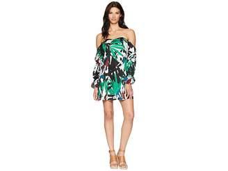 Alexia Admor Printed Off the Shoulder Flare Dress Women's Dress