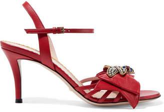 Gucci Queen Margaret Embellished Leather Sandals