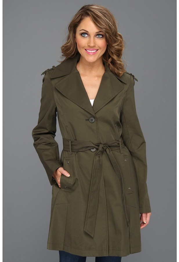 DKNY Single-Breasted Trench 06516X-YT (Fatigue) - Apparel