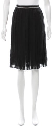 Prada Pleated Chiffon Skirt