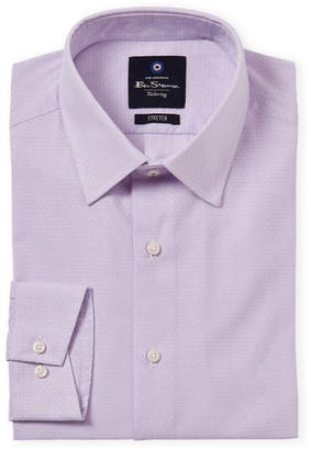 Ben Sherman Lavender Stretch Collar Dress Shirt