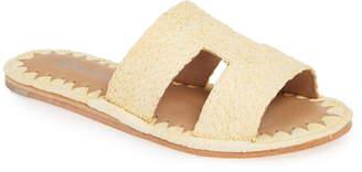 Jeffrey Campbell Ernon Raffia Slide Sandal